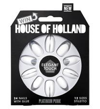 House of Holland Elegant Touch Nails Platinum Punk White/artificial/false/new