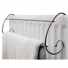 2xSTYLISH CURVED CHROMED RADIATOR HANGING TOWEL HANDY TOLL FOR ALL WASHING New