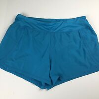 Xersion Women's running shorts Size 2X Aqua blue Lined NEW athletic