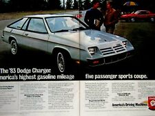 "1983 Dodge Charge Original Print Ad 8.5 x 11"" 2 Page"