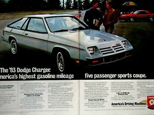 """Carroll Shelby Dodge Charger 1985 Good Year Original Print Ad 8.5 x 11/"""""""