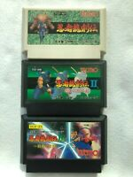 Famicom Ninja Ryukenden 1 2 3 Ninja Gaiden Game TECMO Tested Cleaned Japan