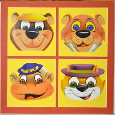 HB COLLAGE PRINT w YOGI MAGILLA TOP CAT SNAGGLEPUSS PROFESSIONALLY MATTED