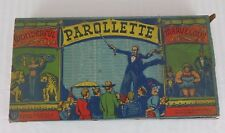 Vintage Selchow & Righter Parollette No. 36 Game 1946 NOT COMPLETE