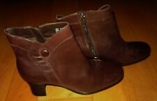 Clarks Brown Leather Fashion Boots 5.5 *Cute Must C*