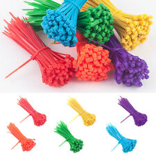 Lots 100x Colorful Self-Locking Nylon Plastic Cable Ties Wrap Wire Cord Zip Ties