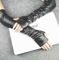 40cm /50cm /60cm nouvelle Mode aux femmes long noir Mitaines cuir opéra gants