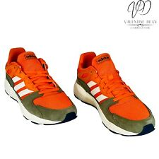 Adidas Crazy Chaos Men's Running Shoes Orange And Grey Leather Sneakers Size 8.