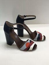 Tory Burch 'Miro' Block Heel Sandals (Women's) Navy Blue Size 8.5