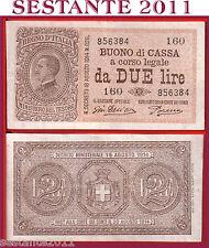 ITALIA,  ITALY,  2 LIRE VITT. EMANUELE III 1922, P. 37c, BB++ / VF++  SERIE 160