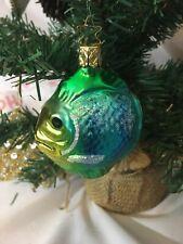 Old German Mercury Glass Tropical Fish Ornament