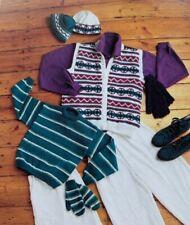 "Family Knitting Pattern Sweater / Jumper Waistcoat Hat Mittens Glove 26 - 46"" DK"