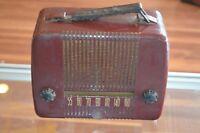 Vintage Emerson Tube Radio Red
