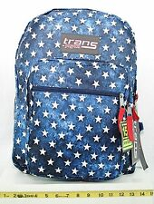 JanSport Trans School Student Backpack Patriotic Blue Multi Star New with Tags