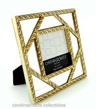 """Cynthia Rowley Photo Frame Gold Twist Lattice Over Mirror For 4x4"""" Picture"""