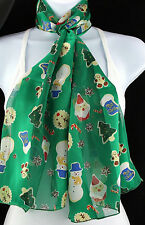 Christmas Cookies Womens Scarf Xmas Fashion Holiday Gift Green Scarves New
