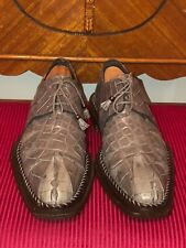 MAURI GENUINE ALLIGATOR HORNBACK TAIL SHOES SIZE 8.5M MADE IN ITALY