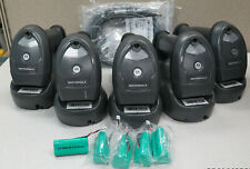 Lot of 5 Zebra Motorola Symbol LI4278 Barcode Scanner STB4278 Cradle New Battery