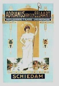 Original vintage poster DUTCH LIQUOR SCHIEDAM HOLLAND c.1910