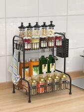 Küchenregal Spice Rack Organizer 2 Tier Gewürzregale für Küche Badezimmerschrank