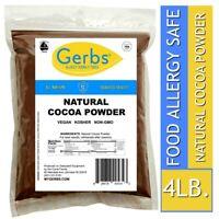 Natural Cocoa Powder 4 LBS - Food Allergy Safe - Non GMO Vegan & Kosher by Gerbs
