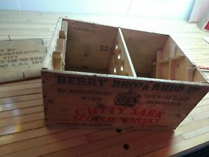 Vintage Cutty Shark Scotch Whiskey Wooden Crate