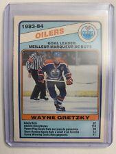1984-85 O-Pee-Chee 1983-84 Scoring Leaders #357 Wayne Gretzky Goal Leaders OPC