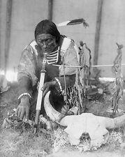 Dakota Indian Man & Calumet Edward S. Curtis 8x10 Silver Halide Photo Print