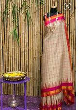 Banarsi Cotton Silk saree  with running blouse Purple Oyster
