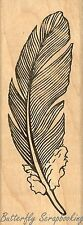 Quill Feather, Wood Mounted Rubber Stamp JUDIKINS, NEW - 2150E
