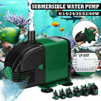 Fish Pond Tank Water Pump Submersible Aquarium Pump Sump Fountain Outdoor *##