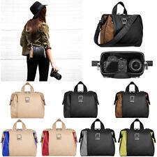 Lencca Leather DSLR Camera Shoulder Bag Carry Case For Canon EOS 90D / Rebel T8i