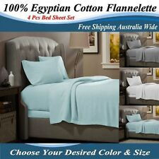 Patternless Flannelette Bedding Sheets