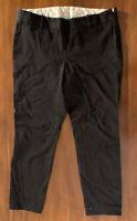 J. Crew Women's Pants Size 10 Black Cafe Trouser Cotton Stretch Straight Leg
