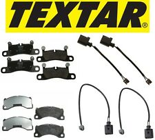 Textar Front & Rear Brake Pad Set + Sensors Cayenne Silver Caliper or Black