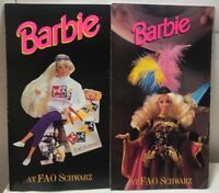 Barbie Collectibles Magazine Catalog FAO Schwarz Toy Doll Book - Lot of 2!