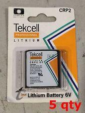 5 x Lot Tekcell CR-P2PA/1B CRP2 EL223A DL223 K223LA 6v Lithium Battery Korea