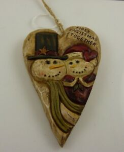 First Christmas together heart xmas ornament Kurt S. Adler snowman