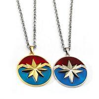 Captain Marvel Avengers Necklace Fashion Stainless Steel Pendant