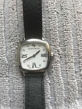 David Yurman 27mm Albion White Dial Black Leather Wrap Around Strap Watch