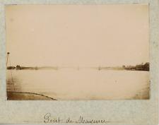 Allemagne, Mayence, Mainz, le pont sur le Rhin  vintage albumen print,Photos p