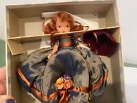 NASB Nancy Ann Storybook Bisque Doll 183 Thursdays Child FR Orig Box Silk Gown