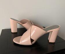 "New - Worthington Women's Sandals Slides 9.5M Pink Patent Faux Leather 4"" Heel"