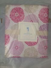 3pc Pottery Barn Kids Cotton Pink Purple Mum Flower Twin Sheet Set NWT