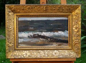 hervorragendes Ölgemälde Meeresbrandung nicht signiert erlesene Künstlerarbeit