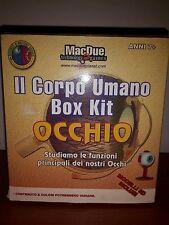 Il Corpo Umano Box Kit Occhio Eye Mac Due Modello 3D Organo Vista Pupilla Raro