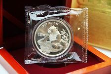 CHINA - 1 oz Silberpanda 1998 in der Originalfolie inkl. Box - TOP