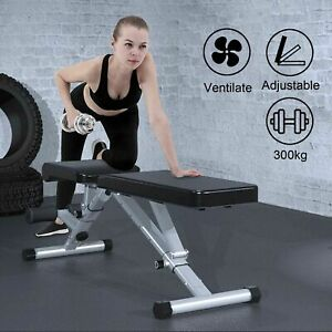 Foldable Adjustable Dumbbell Weight Bench Sit-up Fitness Flat Gym Exercise