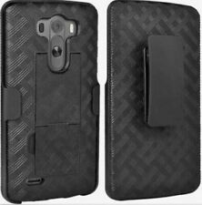 Verizon LG G3 Phone Shell/Holster Combo Case with Kickstand - Black