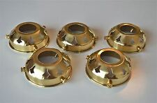 5 CLASSIC ANTIQUE BRASS GLASS LIGHT SHADE GALLERY 2 1/4 INCH LAMP SHADE NR2